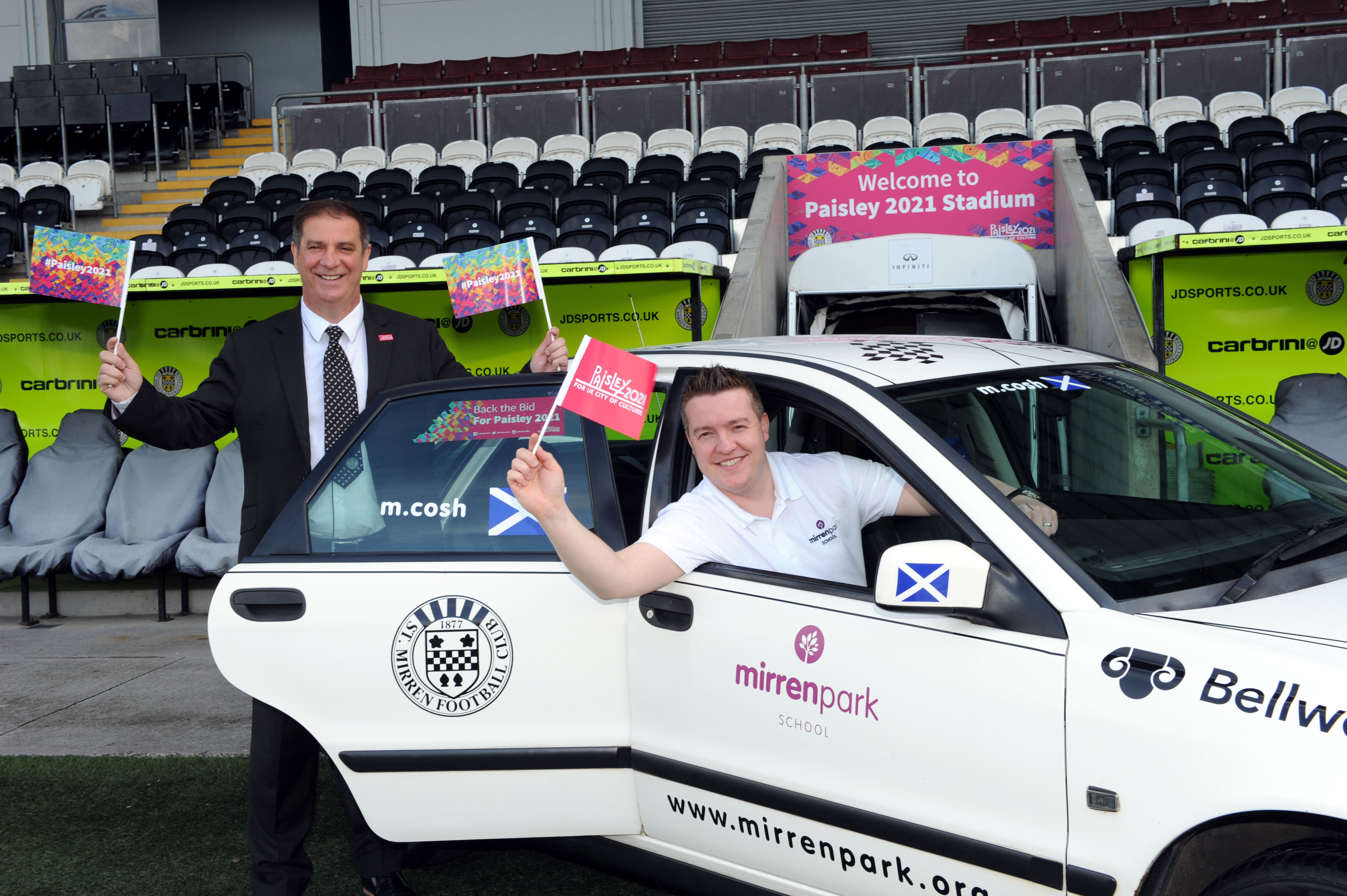Local man to spread word about Paisley 2021 on adventure from Mirren Park to Monte Carlo