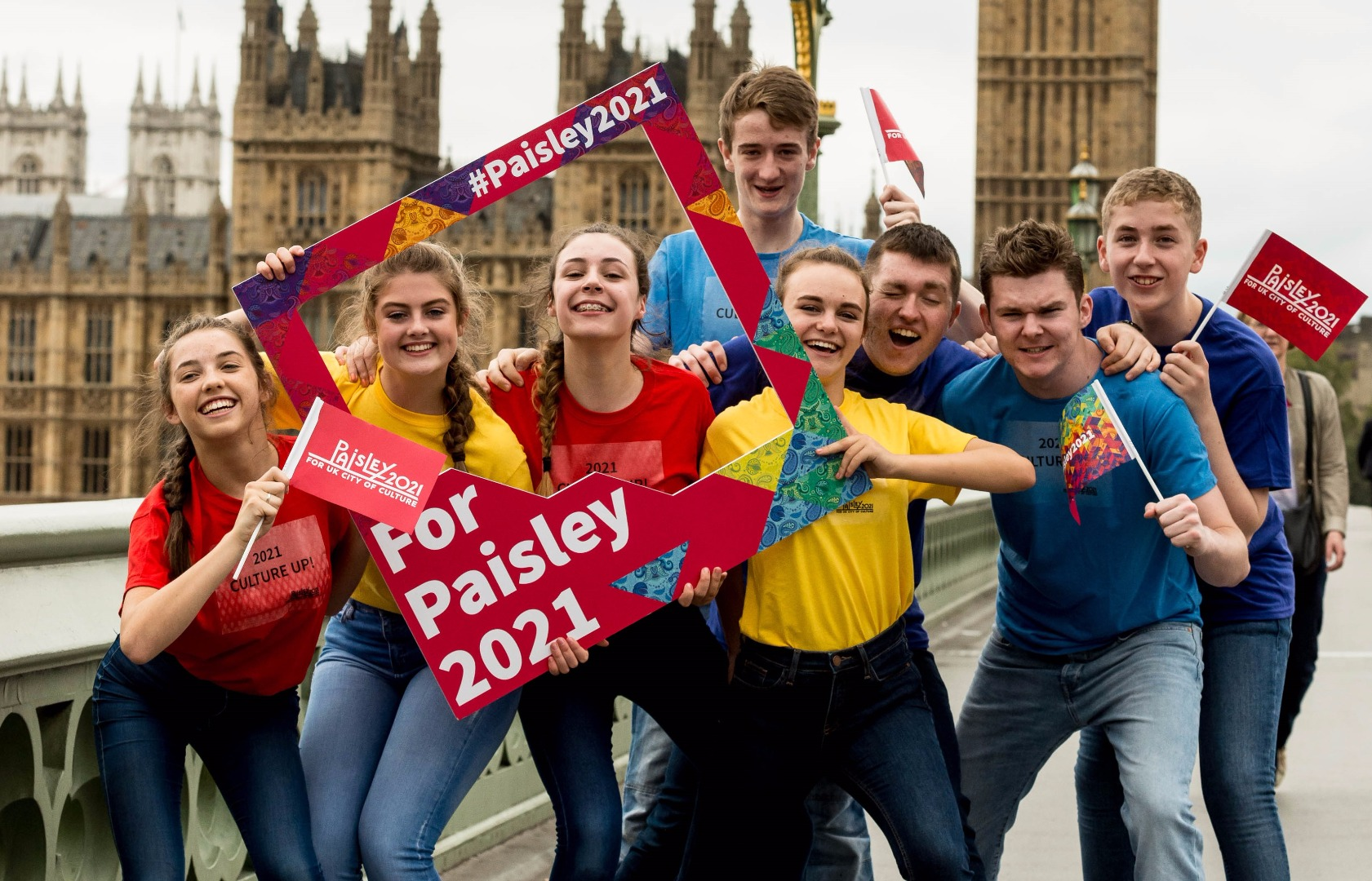 Paisley team make Buddies in London as support for UK City of Culture bid grows