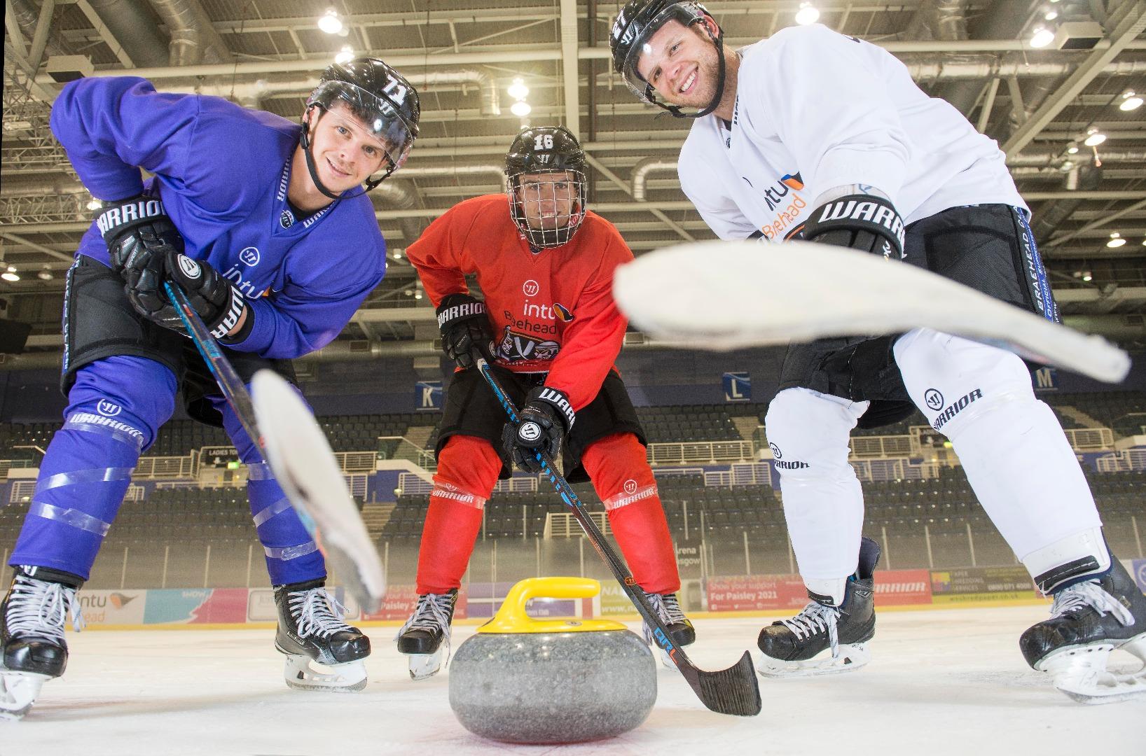 Top curling action sweeping intu Braehead