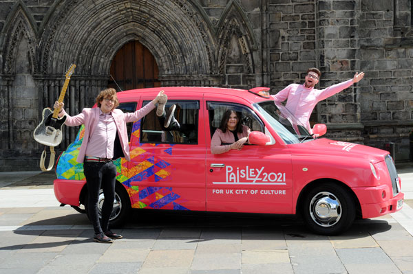 Paisley 2021 taxi with The Vegan Leather