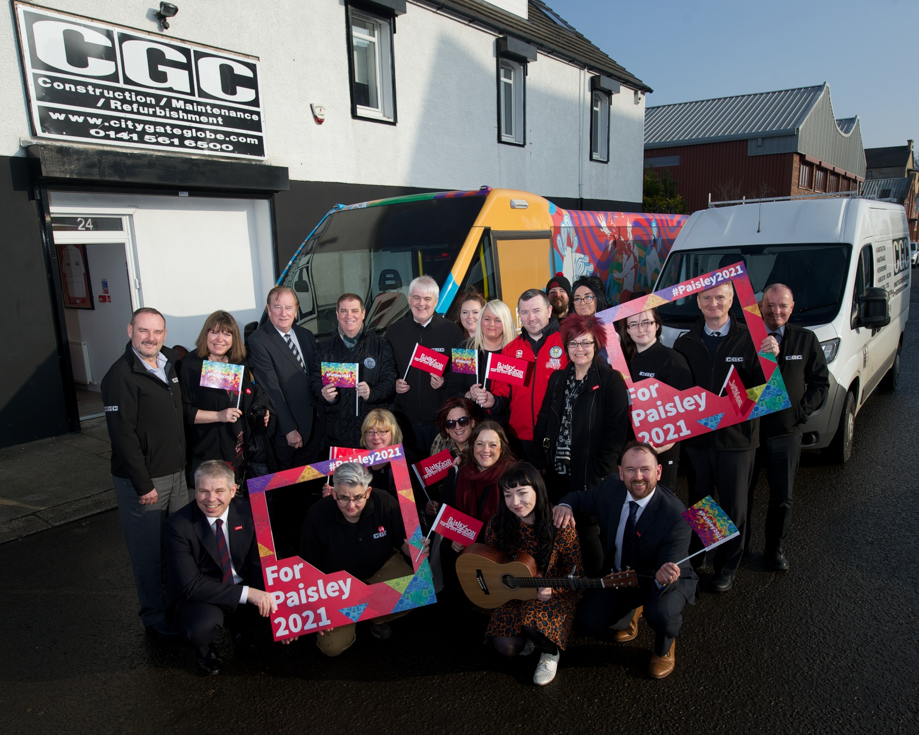 Local businesses show support for Paisley 2021 bid through Culture Bus tour