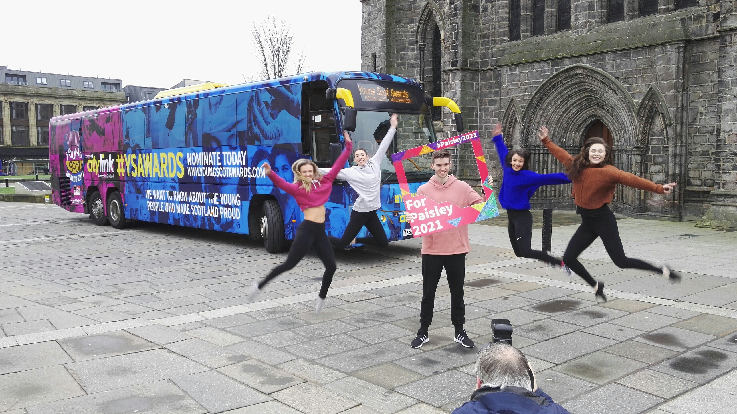 Young Scot Awards tour bus rolls into Paisley