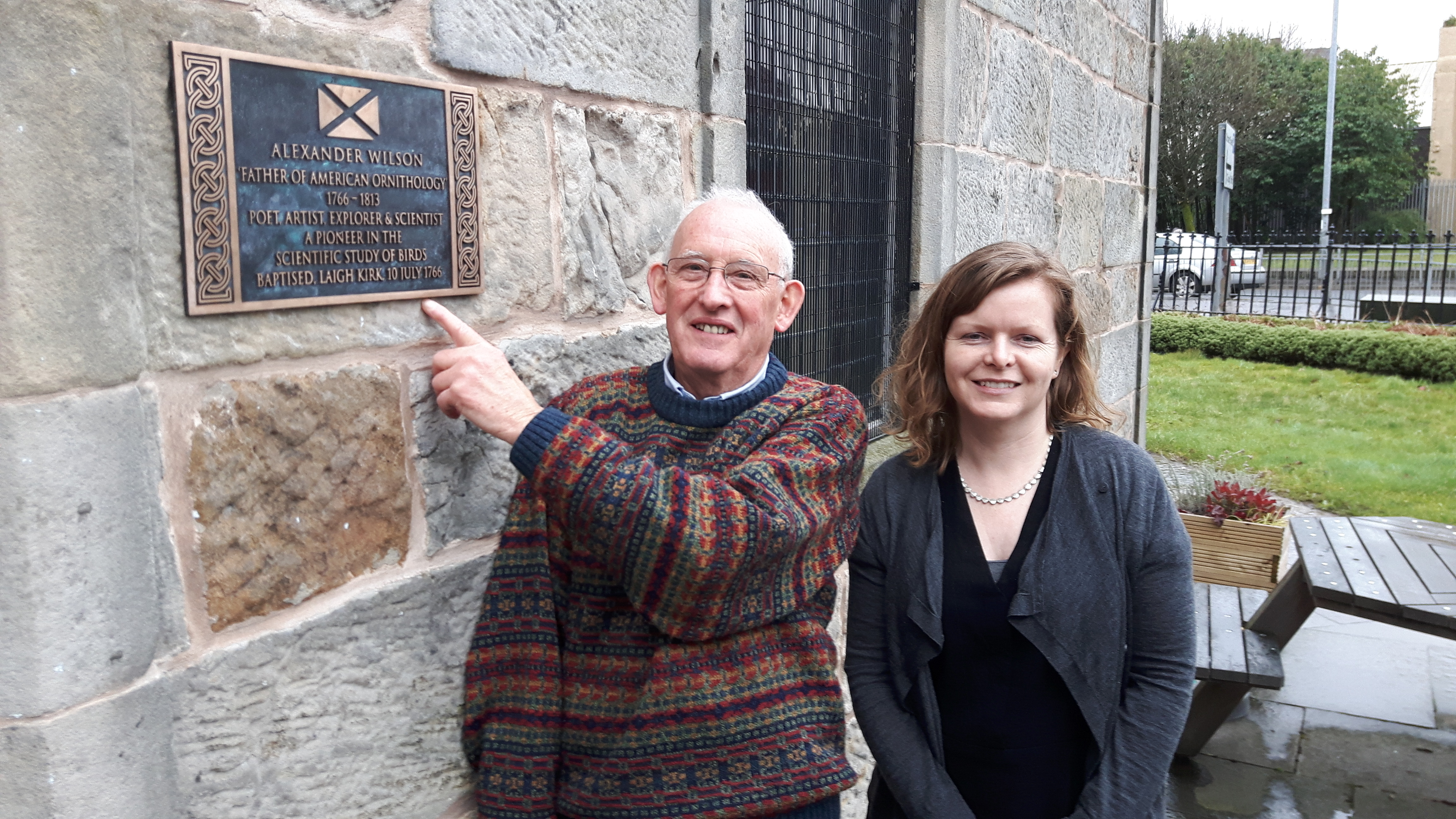 Plaque to honour life of Alexander Wilson unveiled in Paisley