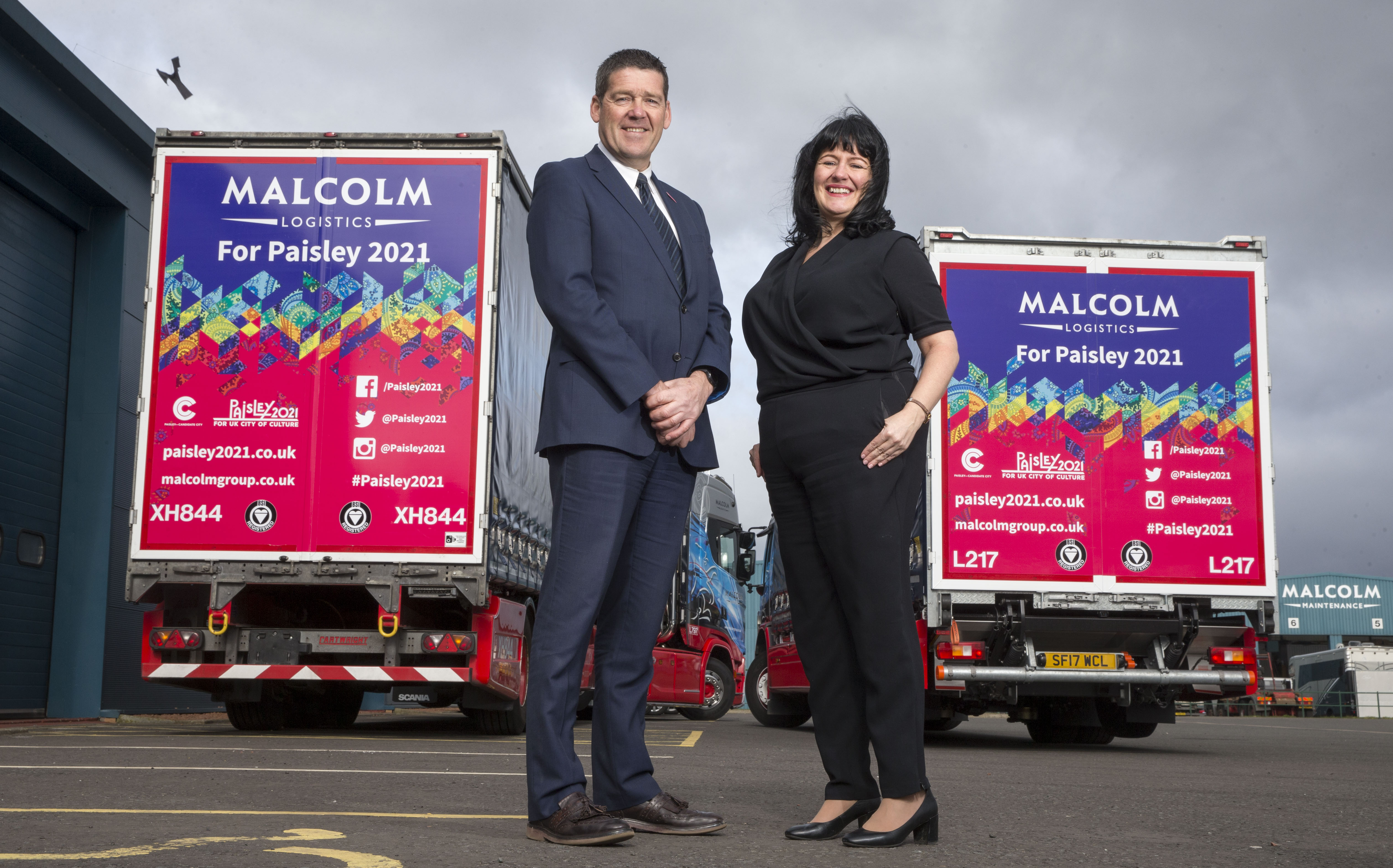 Malcolm logistics firm spreading Paisley 2021 message with special trailers
