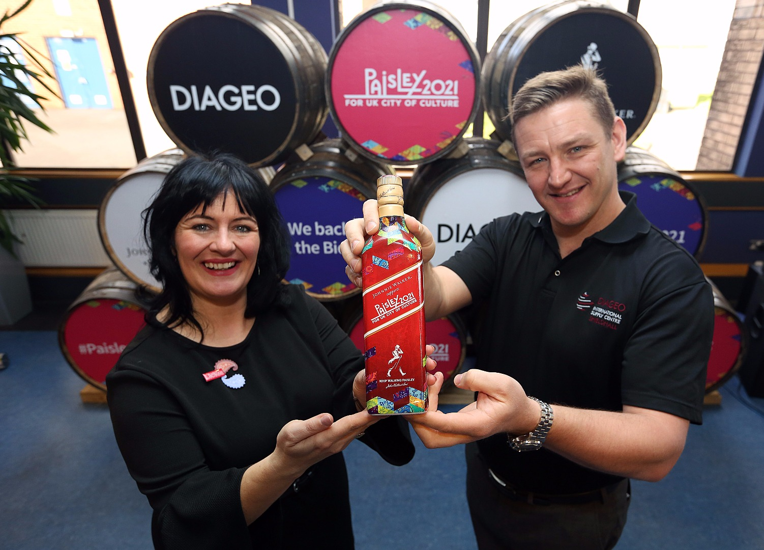 Diageo back Paisley 2021 bid with special Johnnie Walker bottles
