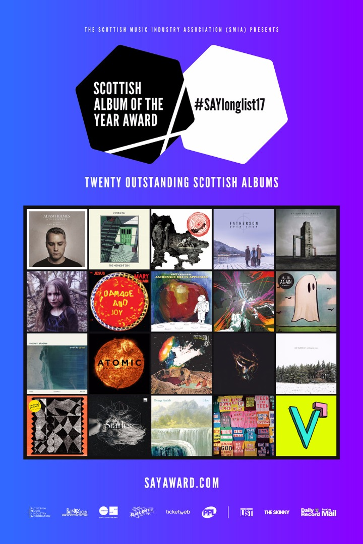 Scottish Album of the Year (SAY) Award Longlist Unveiled