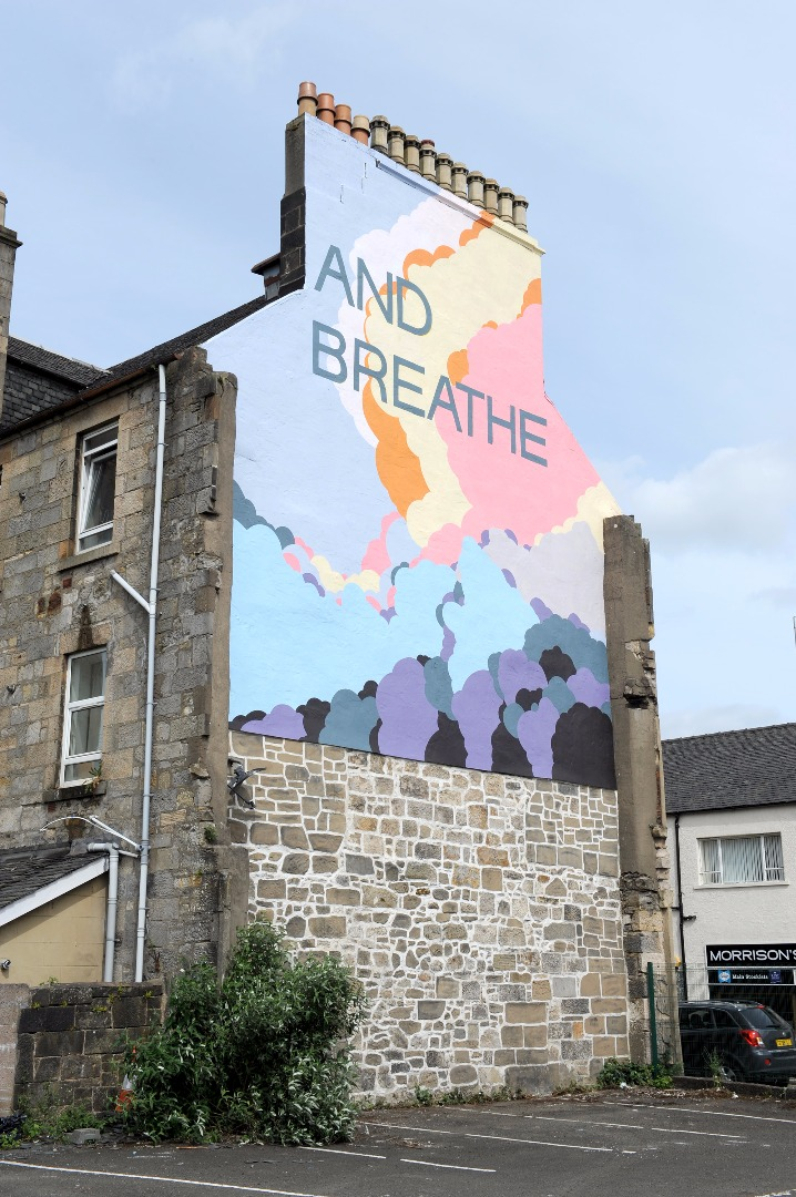 New Made in the Mill mural takes centre stage in Paisley