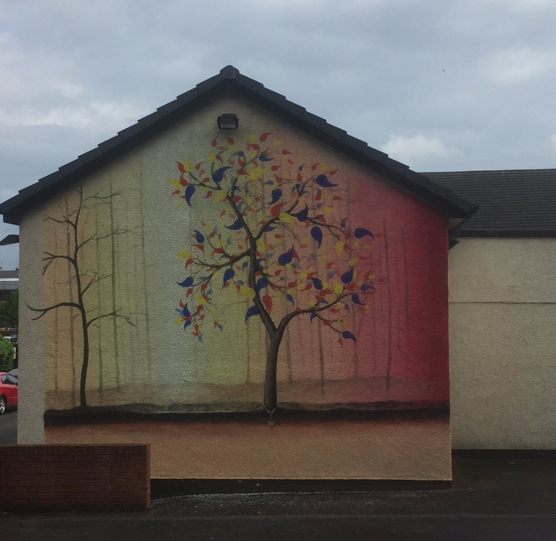 Work begins on next Paisley mural at Lady Lane