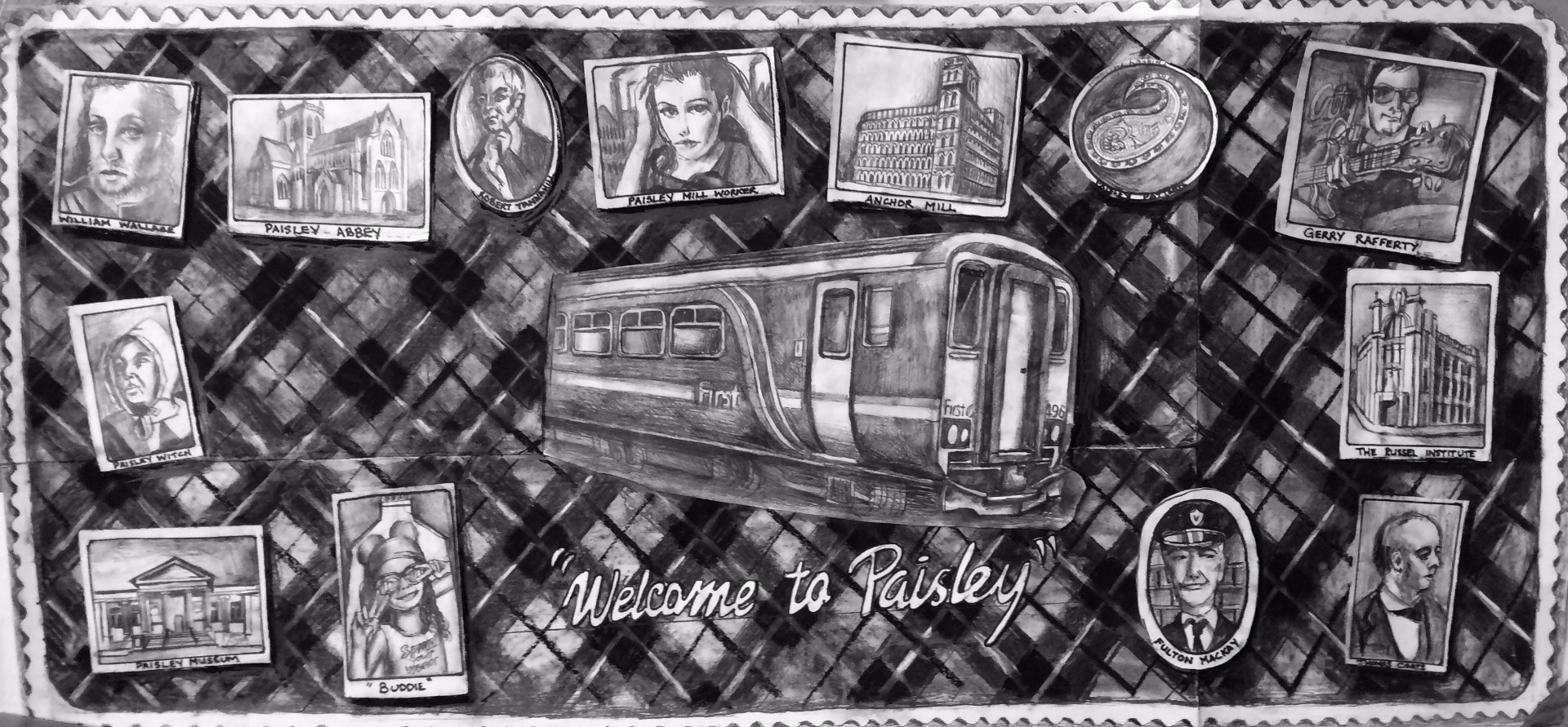 New Paisley artwork to welcome arrivals at Paisley Gilmour Street Station