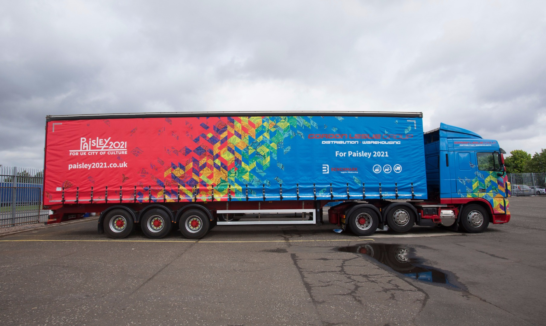 Haulage firm flying the flag for Paisley 2021 with special truck