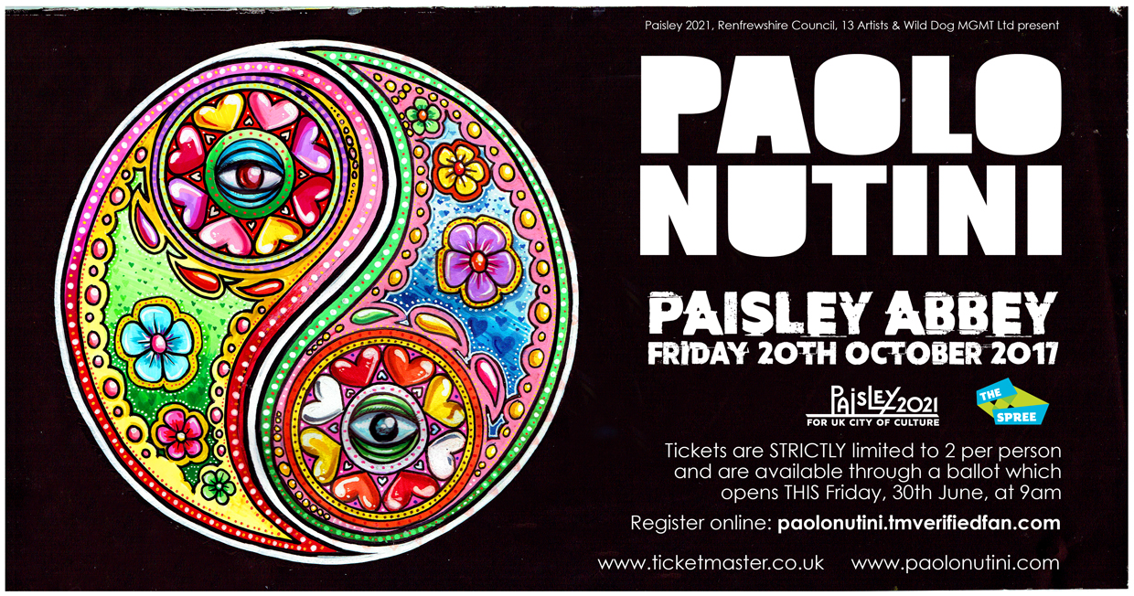 Paolo Nutini show poster