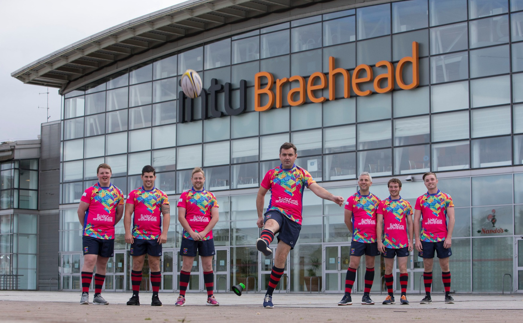 Paisley Rugby Club unveil special Paisley 2021 strips in support of Culture Bid