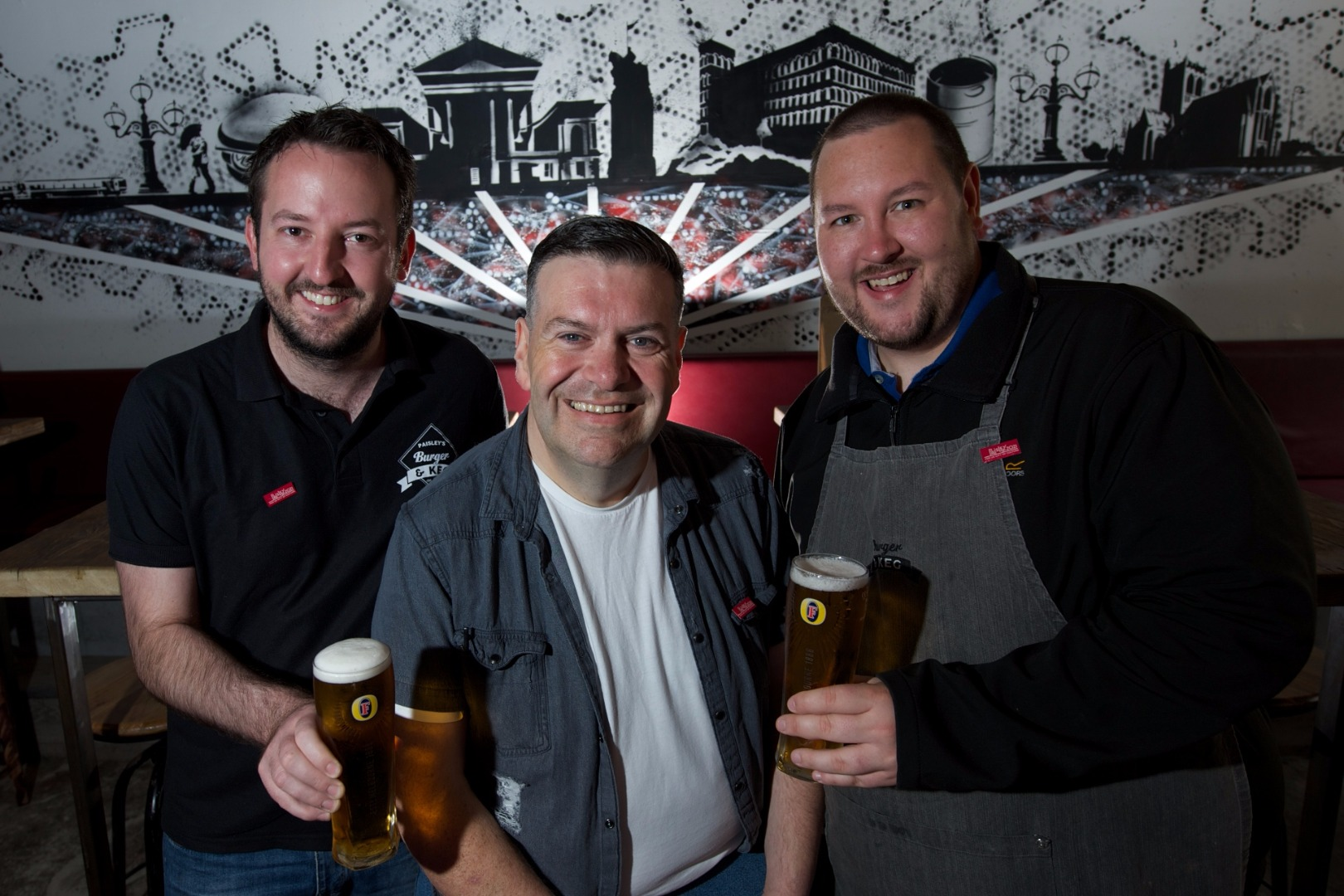 Tom Urie helps Burger and Keg say cheers to Spree programme