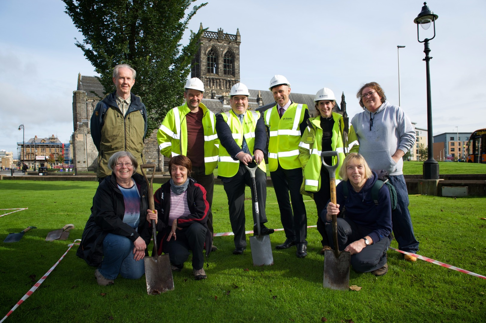 Work starts on archaeological dig to explore mysterious site near Paisley Abbey