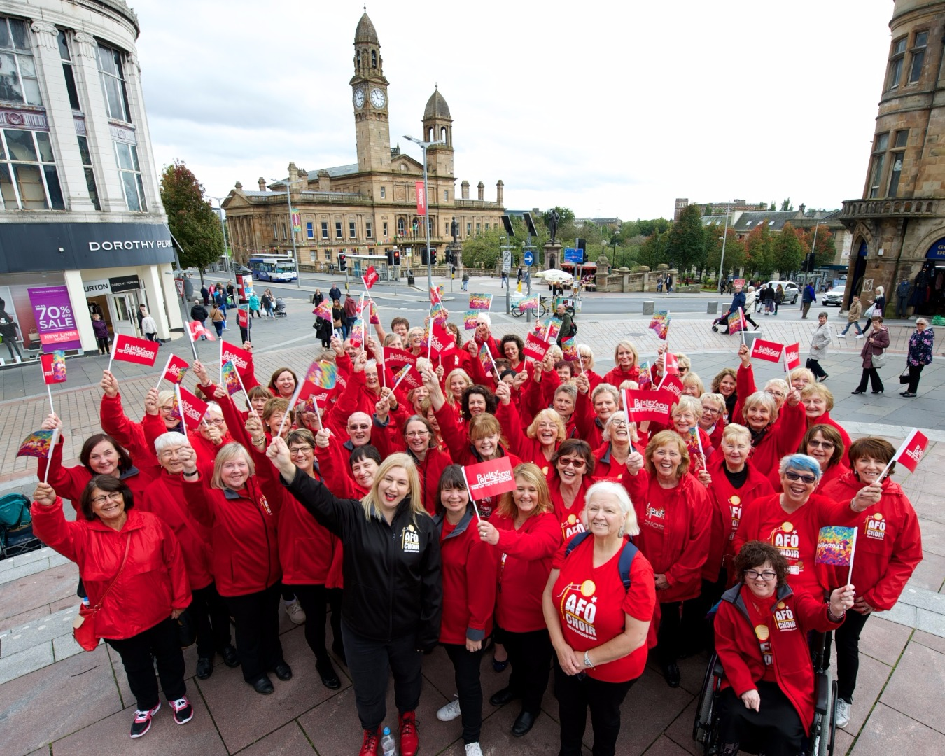 Choir from UK City of Culture host city put on show of support for Paisley 2021​