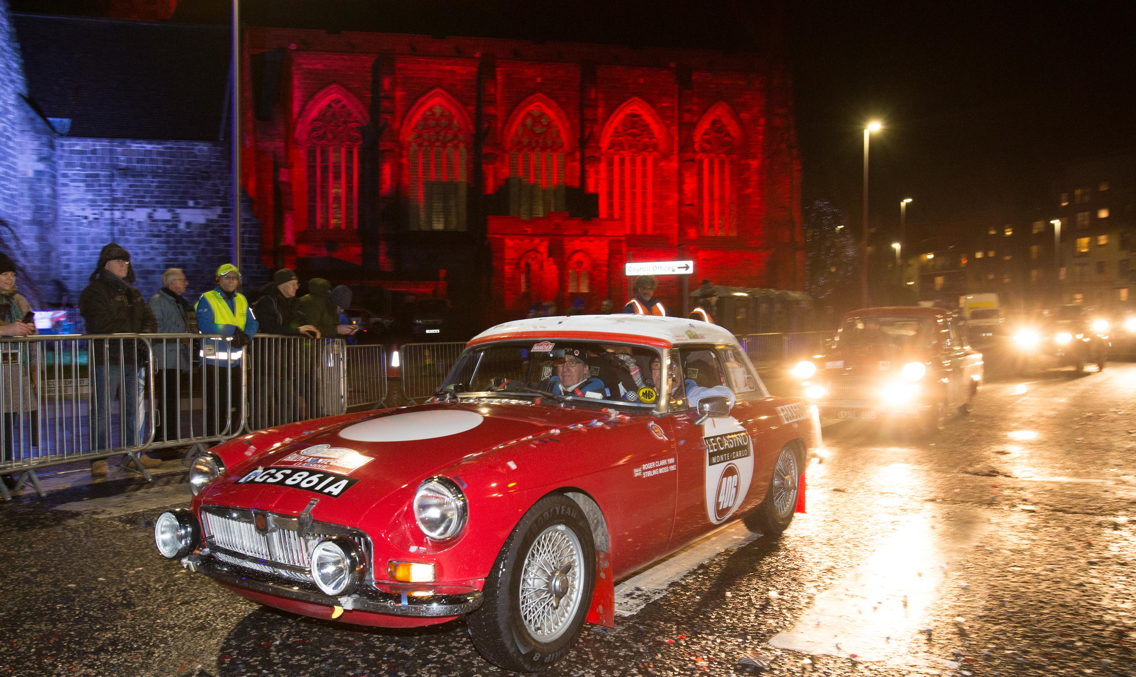 Paisley hosts a party to  send off cars and crew at start of historic Monte Carlo rally