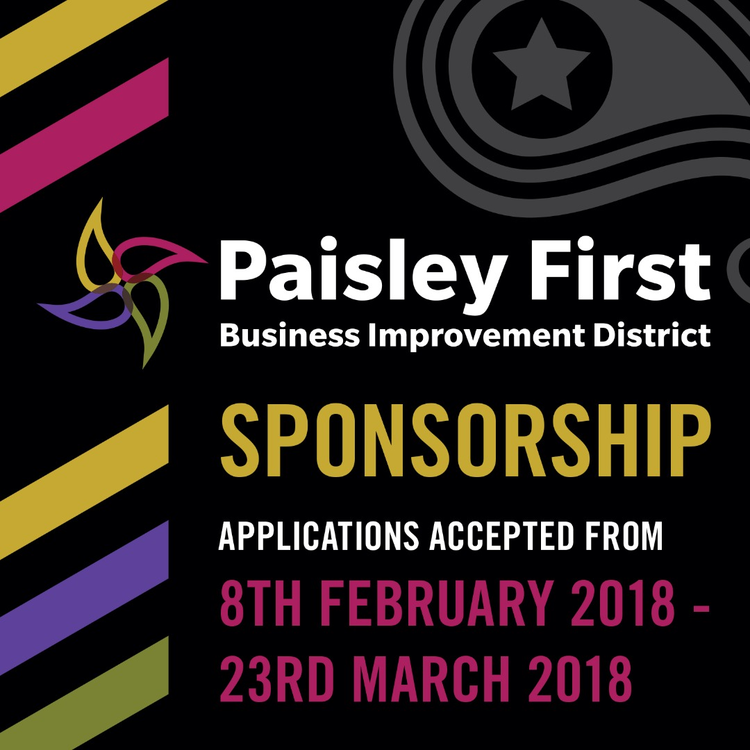 Applications for Paisley First Sponsorship now open